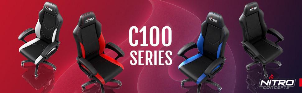 Chaises et fauteuils gaming Serie Nitro Concepts C100